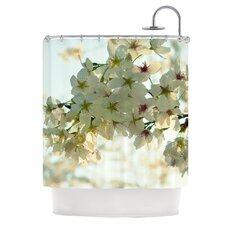 Cherry Blossoms Polyester Shower Curtain