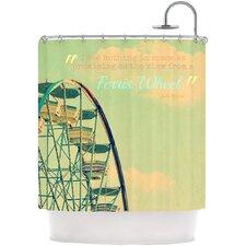 Ferris Wheel Polyester Shower Curtain