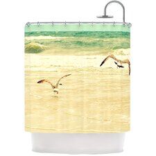 Karate Kid Pose Polyester Shower Curtain