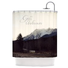 Go into The Unknown Polyester Shower Curtain