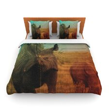 Abstract Rhino Duvet