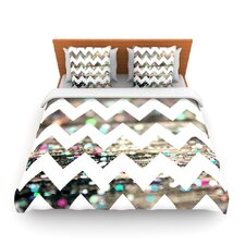 After Party Chevron by Beth Engel Fleece Duvet Cover