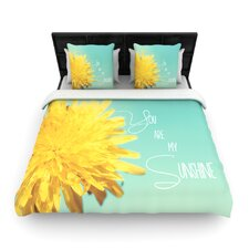You Are My Sunshine by Beth Engel Woven Duvet Cover