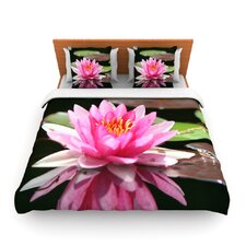 Water Lily by Angie Turner Fleece Duvet Cover