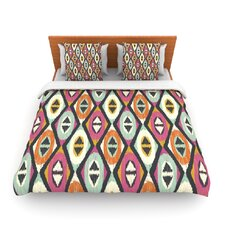 Sequoyah Diamonds by Amanda Lane Fleece Duvet Cover