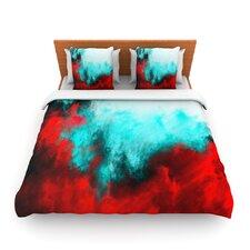 Painted Clouds III by Caleb Troy Fleece Duvet Cover