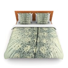 Feather Light by Ingrid Beddoes Fleece Duvet Cover