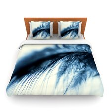 Fall in Blue by Ingrid Beddoes Fleece Duvet Cover