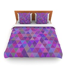 Abstract by Louise Fleece Duvet Cover