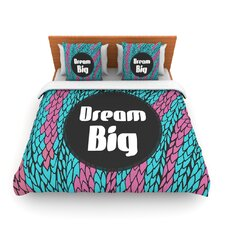 Dream Big by Pom Graphic Design Fleece Duvet Cover