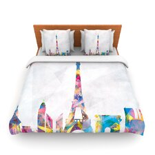 Paris by Mareike Boehmer Fleece Duvet Cover
