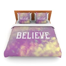 Believe by Rachel Burbee Fleece Duvet Cover