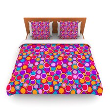 My Colourful Circles by Julia Grifol Fleece Duvet Cover