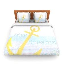Let Your Dreams Set Sail by Alison Coxon Fleece Duvet Cover