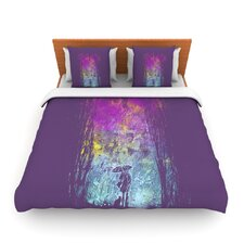 Purple Rain by Frederic Levy-Hadida Fleece Duvet Cover