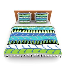 Salsa by Jacqueline Milton Fleece Duvet Cover