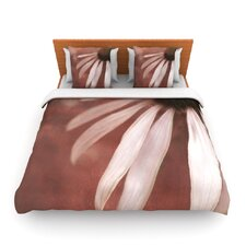 Copper and Pale Pink by Iris Lehnhardt Fleece Duvet Cover