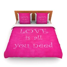 Love is all you need by Iris Lehnhardt Fleece Duvet Cover