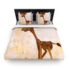 Georgey The Giraffe by Rachel Kokko Woven Duvet Cover
