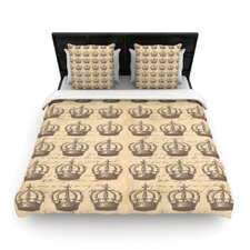 Crowns by Suzanne Carter Woven Duvet Cover