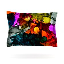 Hippie Love Child by Claire Day Woven Pillow Sham