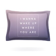 Wake Up by Galaxy Eyes Woven Pillow Sham