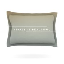 Simple Beautiful by Galaxy Eyes Woven Pillow Sham