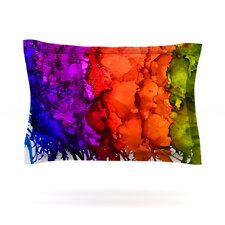 Rainbow Splatter by Claire Day Woven Pillow Sham