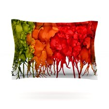 Fall Splatter by Claire Day Woven Pillow Sham