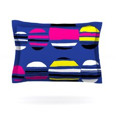 Retro Circles by Emine Ortega Woven Pillow Sham