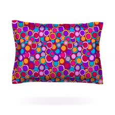 My Colourful Circles by Julia Grifol Cotton Pillow Sham