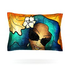 Let The Good Times Roll by Mandie Manzano Woven Pillow Sham