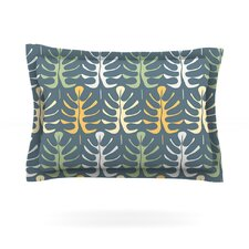 My Leaves on Blue by Julia Grifol Woven Pillow Sham