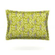 Blossom Bird by Julie Hamilton Woven Pillow Sham