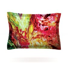 Passion Flowers I by Mary Bateman Cotton Pillow Sham