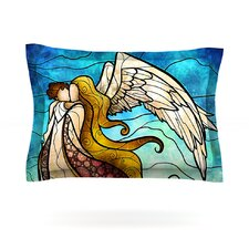 In the arms of the Angel by Mandie Manzano Woven Pillow Sham