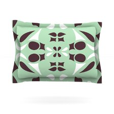 Swirling Teal by Miranda Mol Cotton Pillow Sham