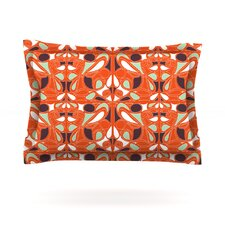 Orange Swirl Kiss by Miranda Mol Woven Pillow Sham