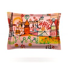 Happy Town by Marianna Tankelevich Woven Pillow Sham