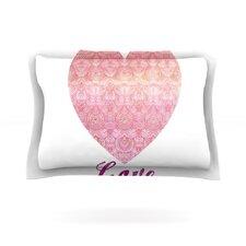 Love by Pom Graphic Design Cotton Pillow Sham