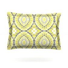 Yellow Tessellation by Miranda Mol Woven Pillow Sham