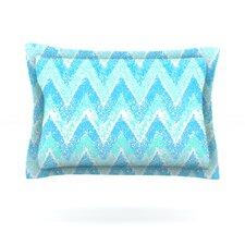 Mint Snow Chevron by Marianna Tankelevich Woven Pillow Sham