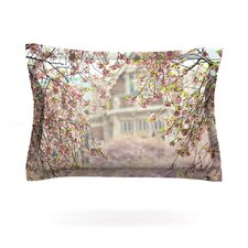 Pink Dream by Sylvia Cook Woven Pillow Sham