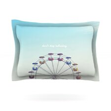 Don't Stop Believing by Libertad Leal Woven Pillow Sham