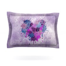 Painted Heart by Nick Atkinson Woven Pillow Sham