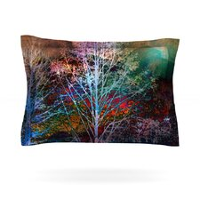 Trees in the Night by Sylvia Cook Woven Pillow Sham