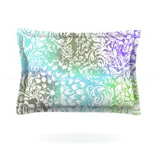 Blue Bloom Softly for You by Vikki Salmela Cotton Pillow Sham