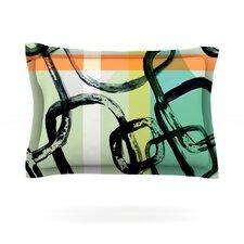 Sixties Stripe by Theresa Giolzetti Cotton Pillow Sham