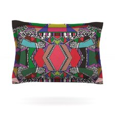 African Motif by Vasare Nar Cotton Pillow Sham