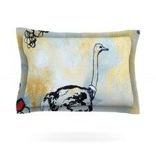 Ostrich by Sonal Nathwani Cotton Pillow Sham